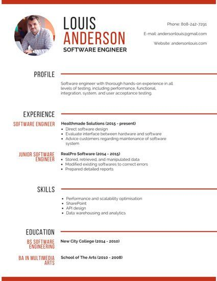 professional software engineer resume design free administrative support tailoring Resume Software Engineer Resume