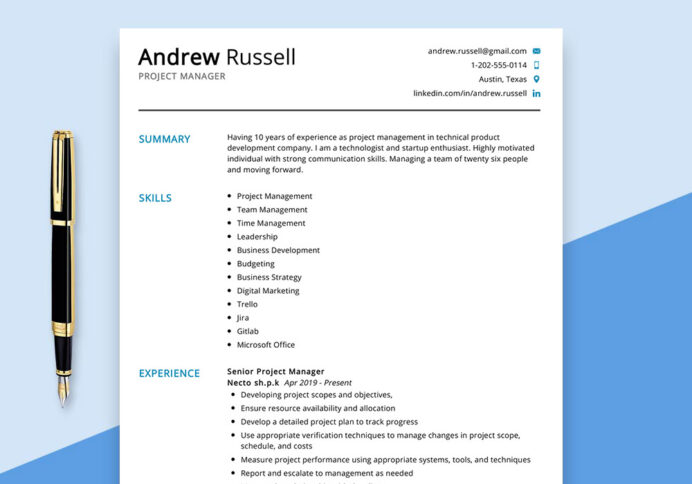 project manager resume example maxresumes digital marketing sample ceh for freshers Resume Digital Marketing Project Manager Resume