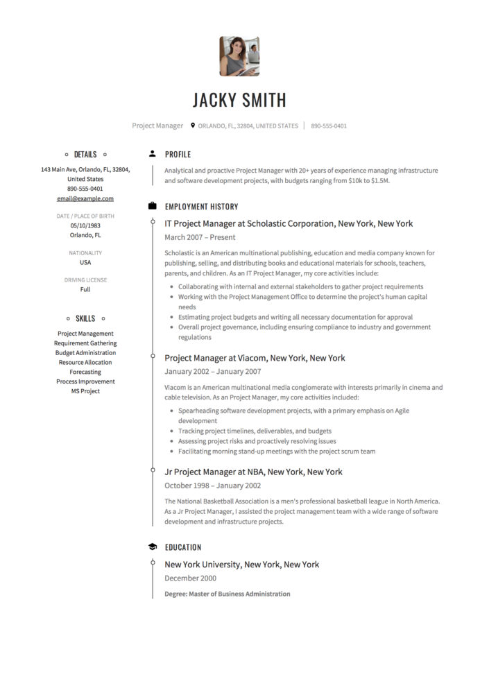 project manager resume examples full guide pdf word management samples free sap crm Resume Project Management Resume Samples Free