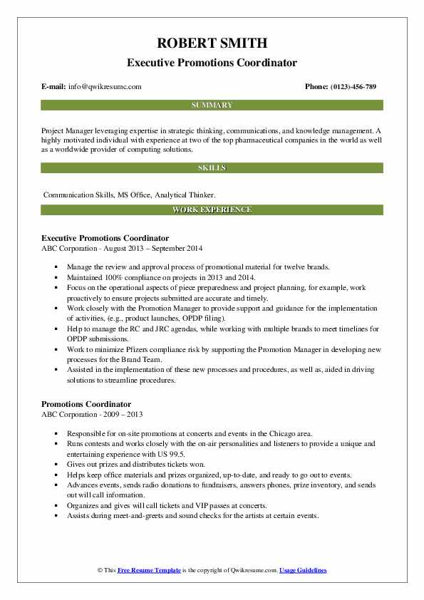 promotions coordinator resume samples qwikresume multiple on pdf catchy objective Resume Multiple Promotions On Resume