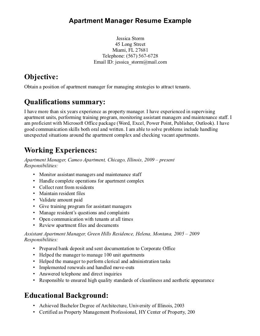 property manager resume sample resumes examples job military police duties construction Resume Property Manager Resume