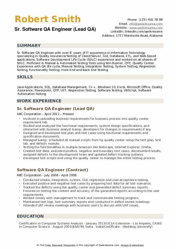 qa engineer resume samples qwikresume with cucumber experience pdf business development Resume Resume With Cucumber Experience