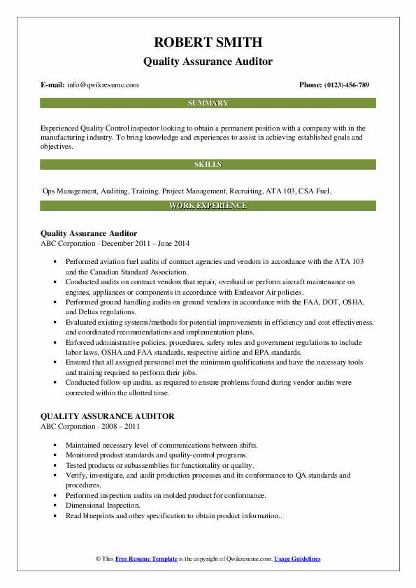 quality assurance auditor resume samples qwikresume control pdf third mate dice profile Resume Quality Control Auditor Resume