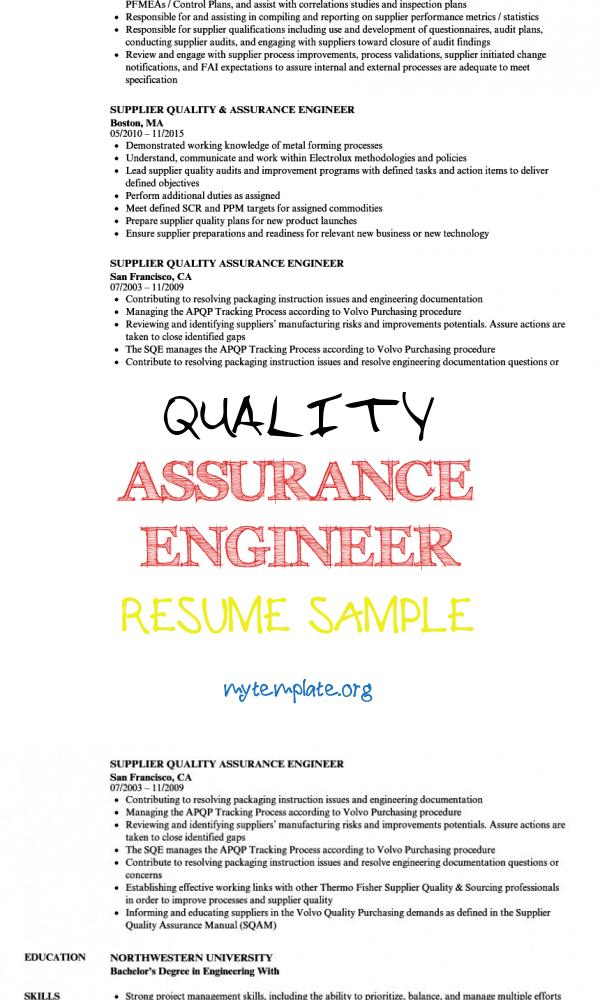 quality assurance engineer resume sample free templates process of pin food runner Resume Process Quality Engineer Resume