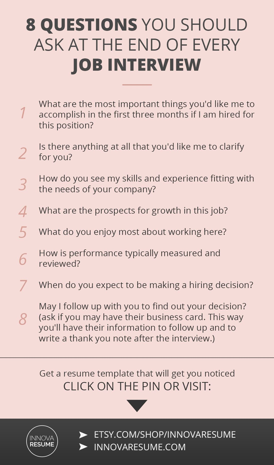 questions you should ask at the end of every job interview need resume that land int Resume Questions About Your Resume