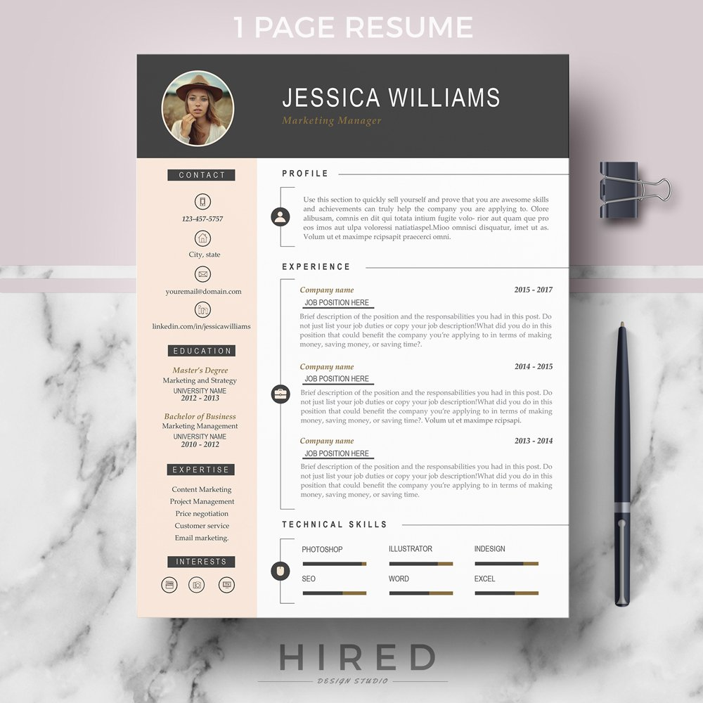 r03 jessica professional cv template for ms word curriculum vitae cover letter references Resume Does Word Have Resume Templates
