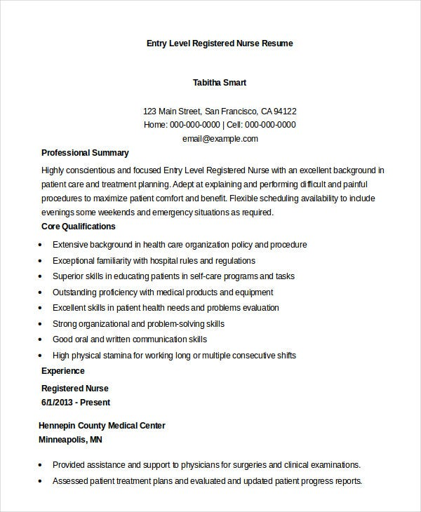registered nurse resume example free word pdf documents downlaod premium templates entry Resume Entry Level Nurse Resume