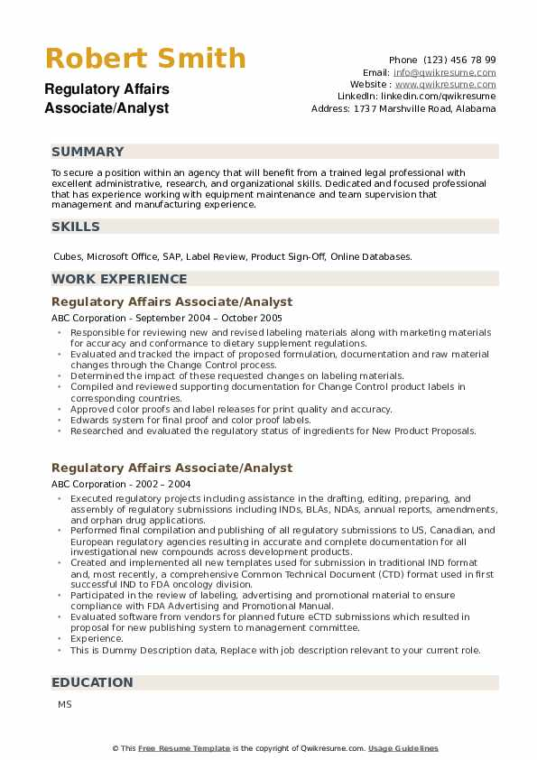 regulatory affairs associate resume samples qwikresume pharmaceutical pdf full stack Resume Pharmaceutical Regulatory Affairs Resume