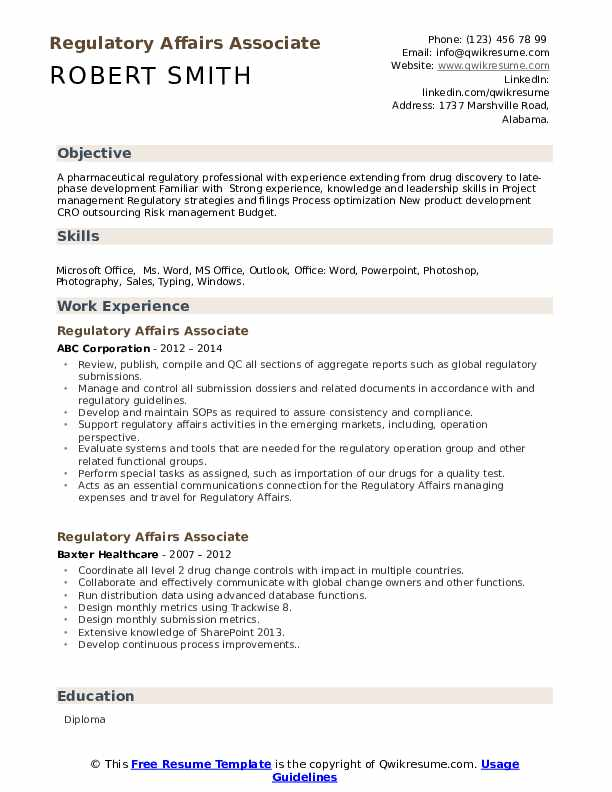 regulatory affairs associate resume samples qwikresume pharmaceutical pdf should have Resume Pharmaceutical Regulatory Affairs Resume