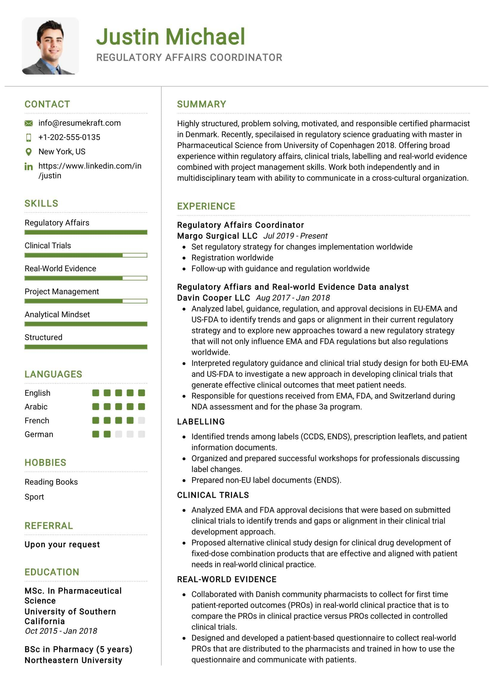 regulatory affairs coordinator sample resumekraft pharmaceutical resume summary about Resume Pharmaceutical Regulatory Affairs Resume