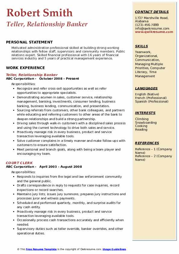 relationship banker resume samples qwikresume pdf hcc coder guidewire testing experienced Resume Relationship Banker Resume