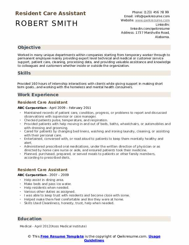resident care assistant resume samples qwikresume health sample pdf roundup uh templates Resume Health Care Assistant Resume Sample