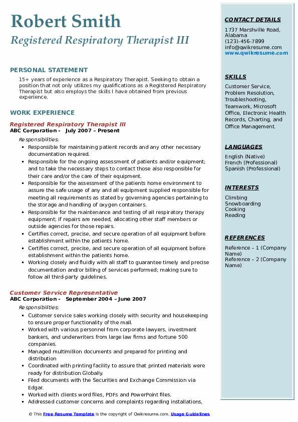respiratory therapist resume samples qwikresume registered pdf geologist sample federal Resume Registered Respiratory Therapist Resume