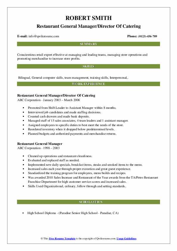restaurant general manager resume samples qwikresume fast food pdf delivery driver with Resume Fast Food Manager Resume