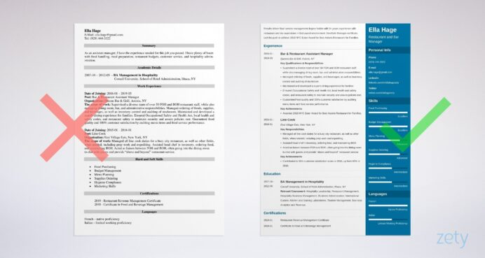 restaurant manager resume examples job description skills example simple sample for Resume Restaurant Manager Job Description Resume