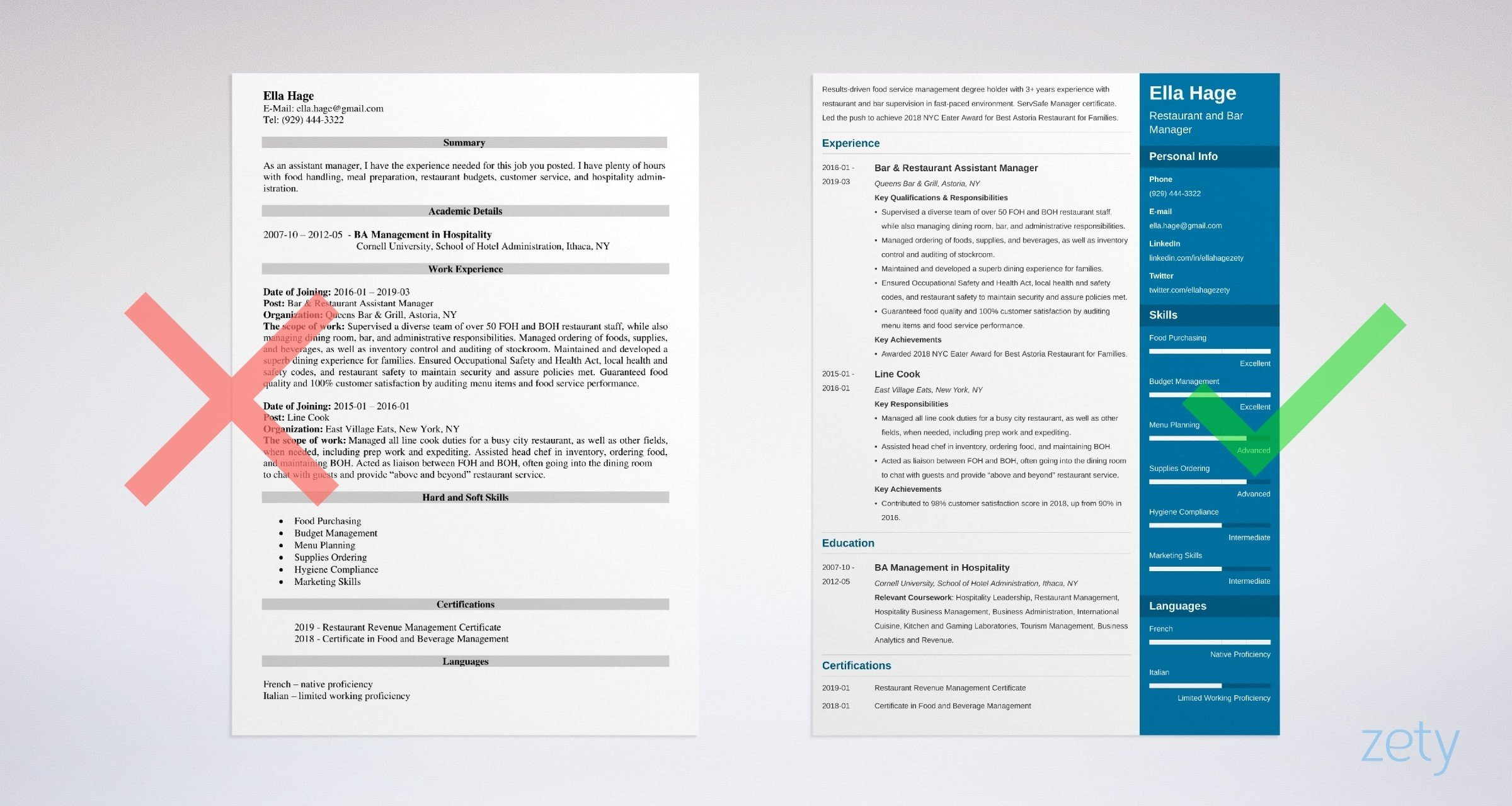 restaurant manager resume examples job description skills help example security guard for Resume Resume Help Restaurant Manager