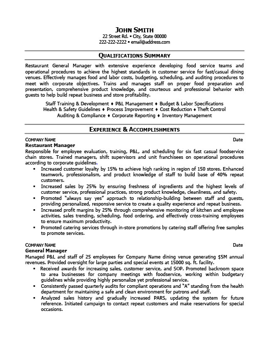 restaurant manager resume template premium samples example hospitality examples Resume Restaurant Hospitality Resume Examples