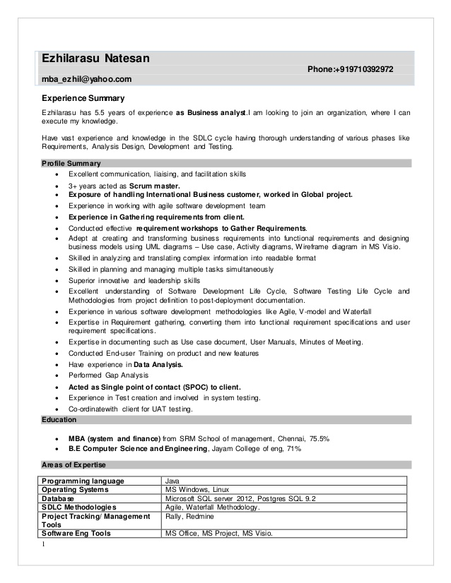 resume agile business analyst summary drop certified home health aide sample housekeeping Resume Agile Business Analyst Resume Summary