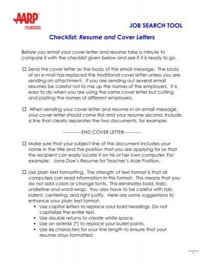 resume and cover letters aarp worksearch does letter go before cashier job examples film Resume Does A Cover Letter Go Before A Resume