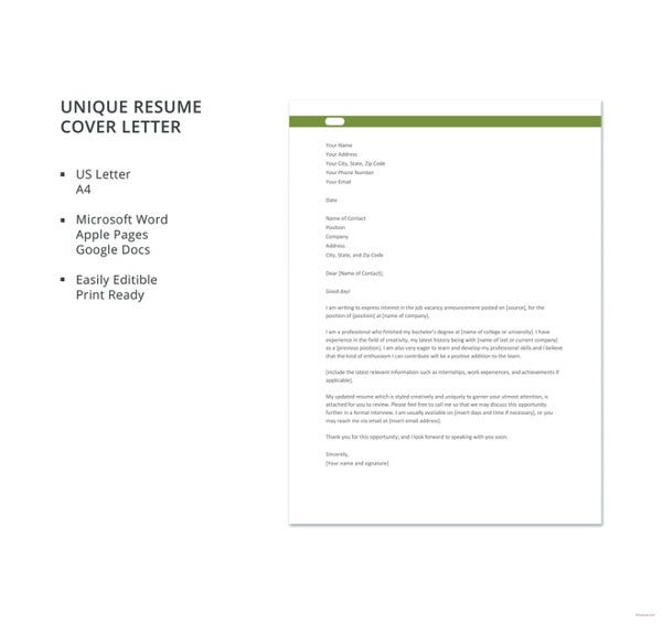 resume cover letter free word pdf documents premium templates great and unique template Resume Great Resume And Cover Letter