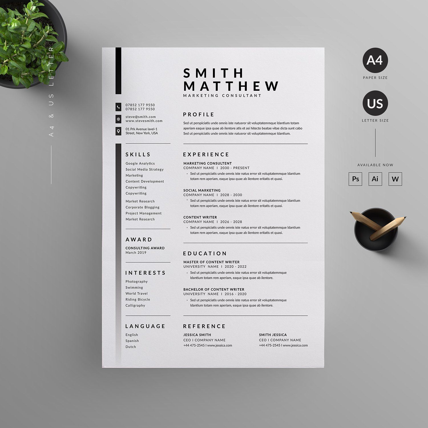 resume cv design template creative graphic size google review experienced hair stylist Resume Graphic Design Resume Size