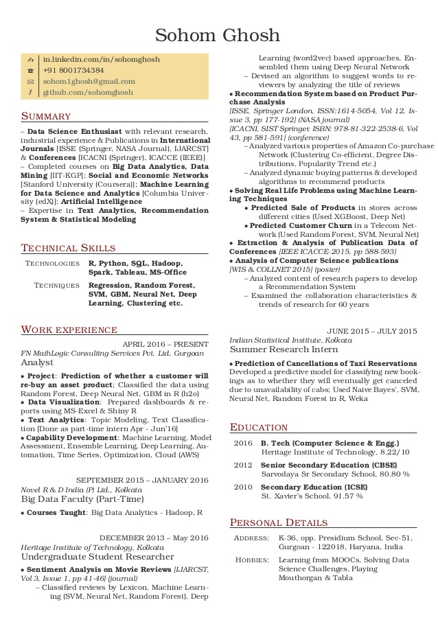 resume data science github free templates with objective logistics sample entry level Resume Data Science Resume Github
