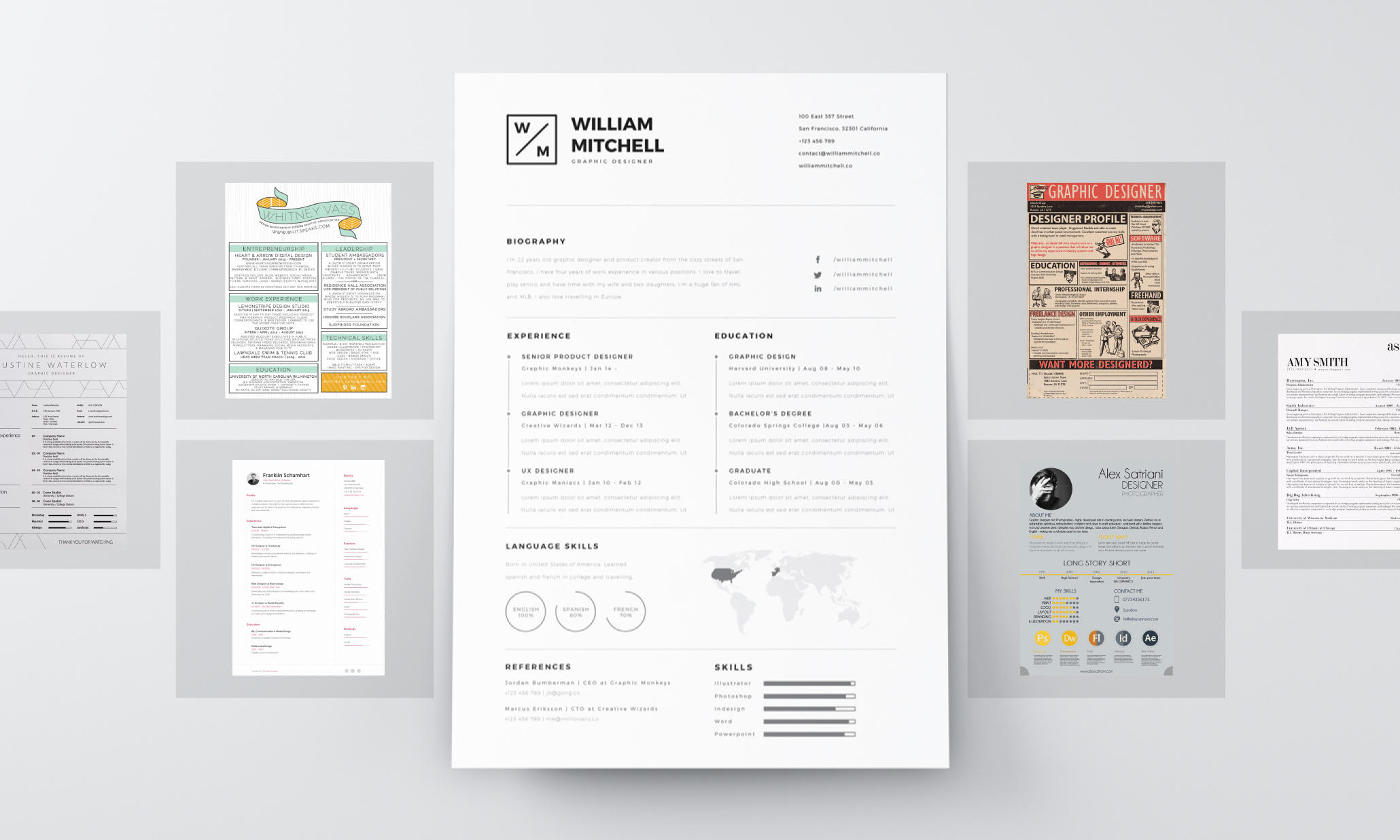 resume design principles that get you hired 99designs graphic size resumes experienced Resume Graphic Design Resume Size