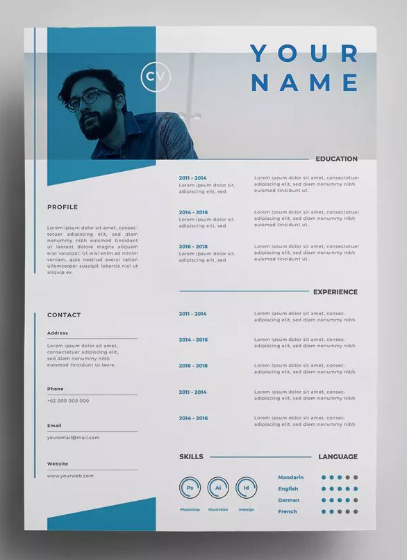resume design templates by surotype on envato elements graphic template size elementary Resume Graphic Design Resume Size