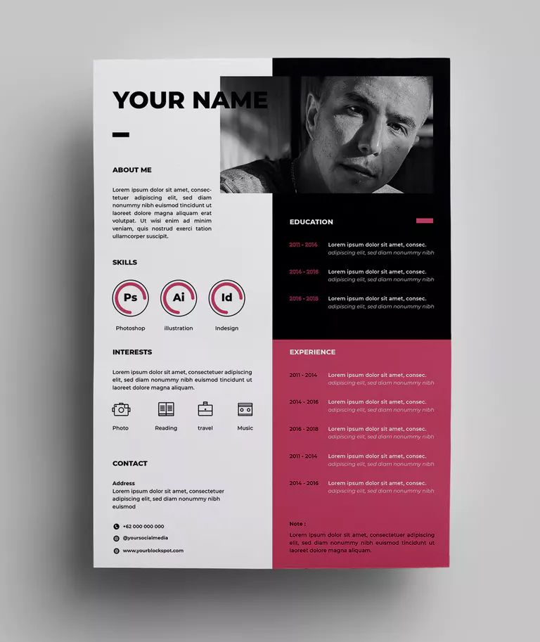resume design templates by surotype on envato elements template creative graphic size Resume Graphic Design Resume Size