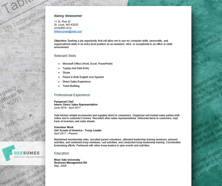 resume example for first job to craft an entry level application typing up and uva Resume Typing Up A Resume For A Job