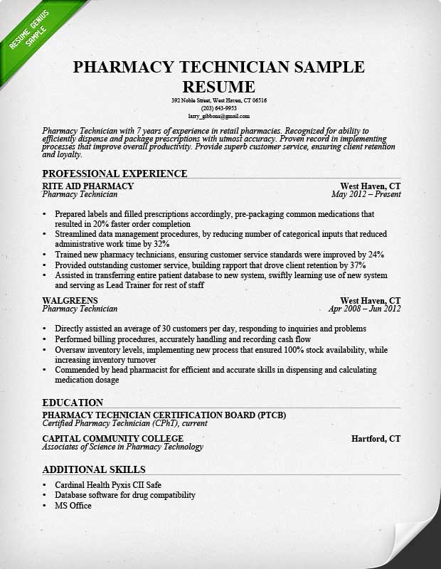resume example images pharmacy technician sample non certified of oracle project manager Resume Non Certified Pharmacy Technician Resume