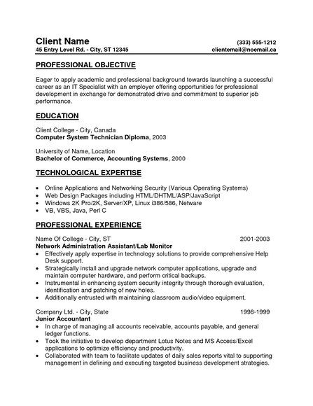 resume example in objective profile examples statement general entry level document Resume General Entry Level Resume Objective