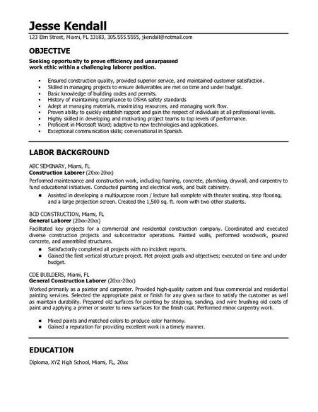 resume example in objective statement good for sample any position acting microsoft Resume Sample Objective For Resume For Any Position
