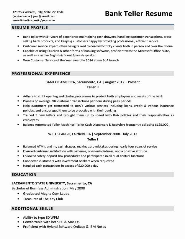 resume examples for bank awesome sample writing tips duties senior accountant free Resume Bank Teller Duties For Resume