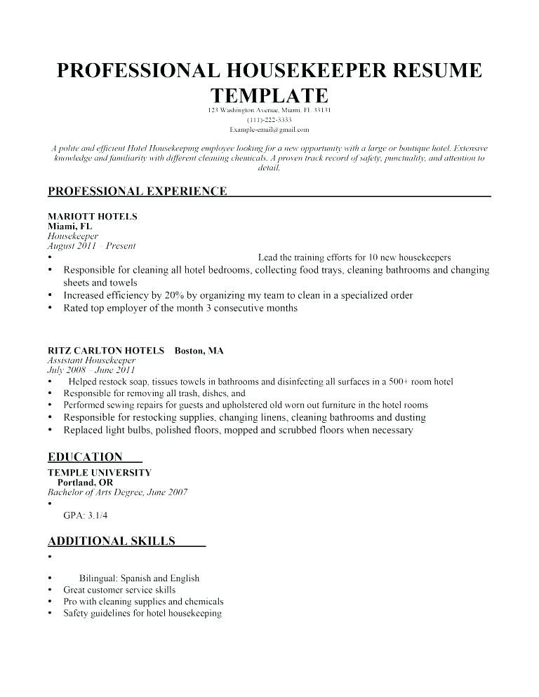 resume examples housekeeping executive housekeeper sample monst hotel job description Resume Executive Housekeeper Job Description Resume