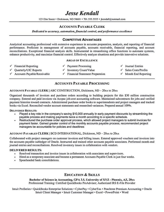 resume examples objective sample job samples accounts payable name means templates for Resume Accounts Payable Resume Objective