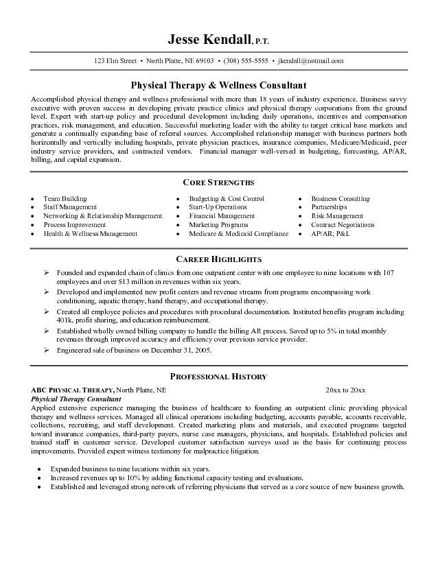 resume examples physical therapist assistant occupational therapy are skills important on Resume Physical Therapy Resume Examples