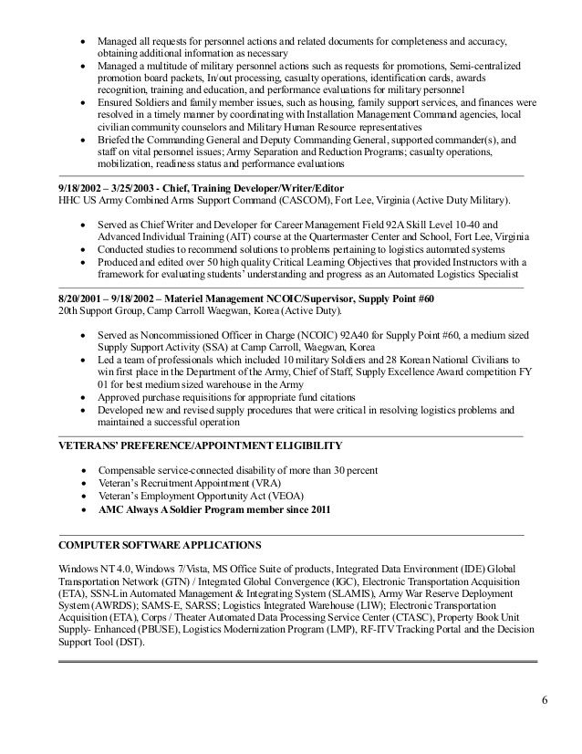 resume examples templates automated logistical specialist web services sample tour guide Resume Automated Logistical Specialist Resume