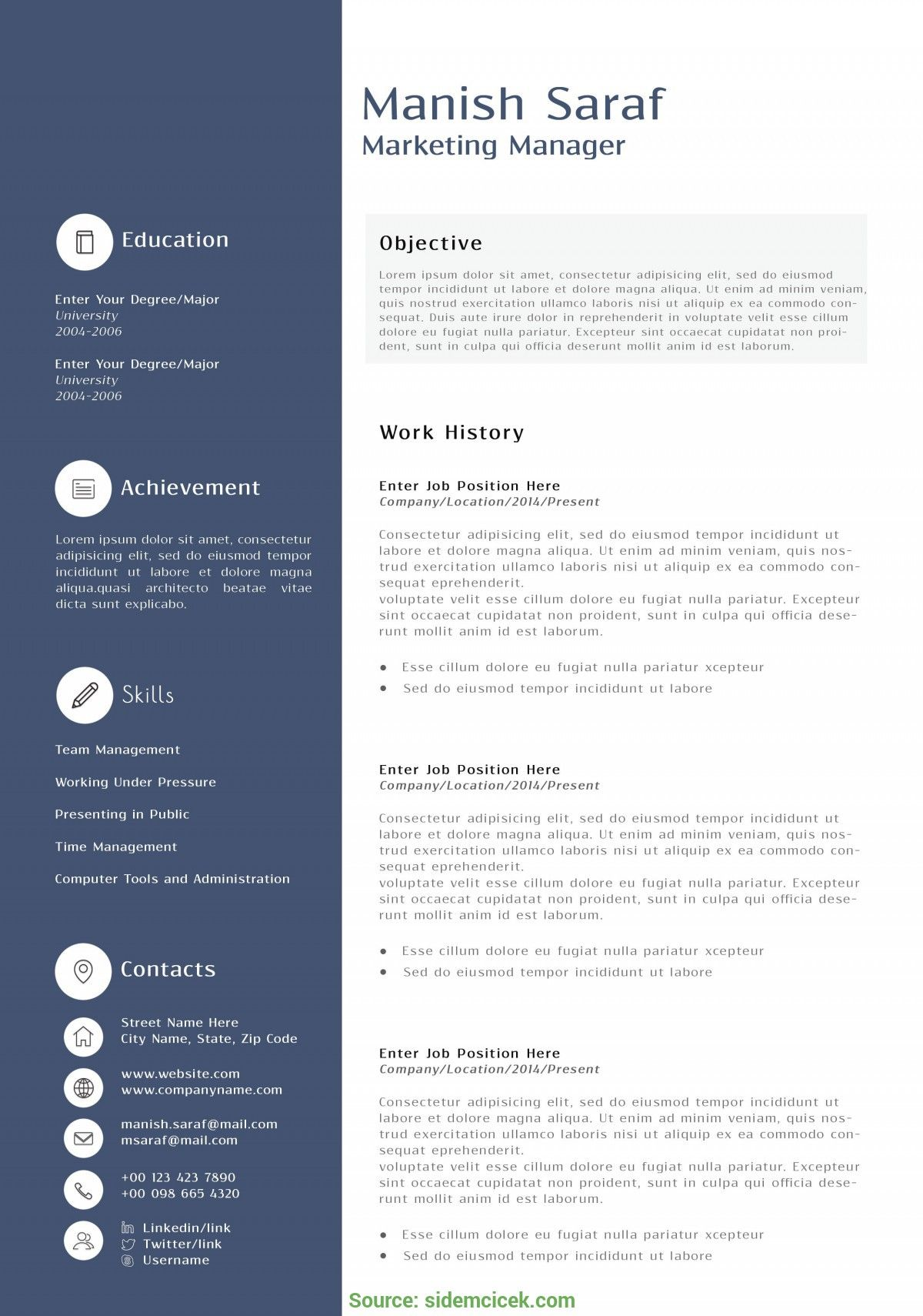 resume examples website is for resources and information marketing templates best free Resume Free Marketing Resume Samples