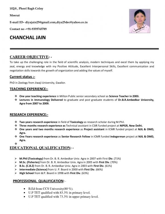 resume for teachers job application in format teacher template examples indian science Resume Indian Science Teacher Resume Format