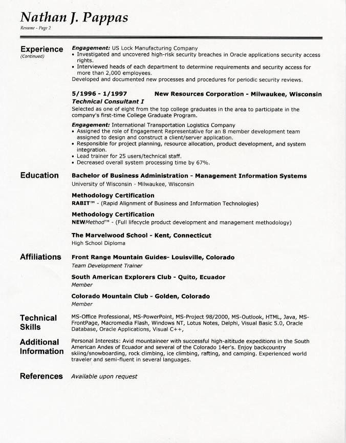 resume format elegant for second examples teacher good job garment factory manager Resume Second Job Resume Examples