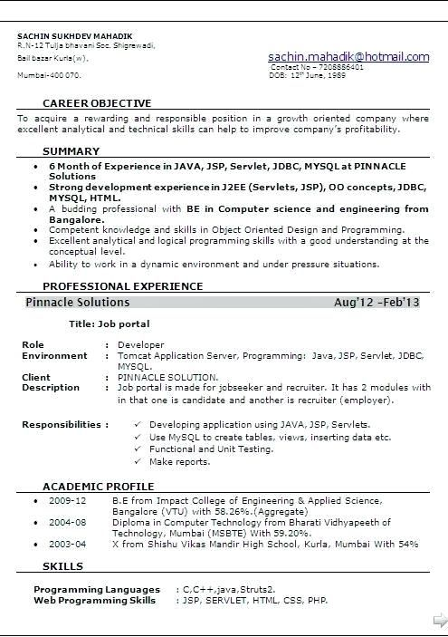 resume format for months experienced software engineer best sample new pursuing degree Resume Experienced Software Engineer Resume