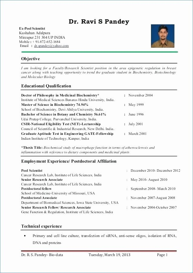 resume format for zoology lecturer teacher template examples sample professor position Resume Sample Resume For Professor Position