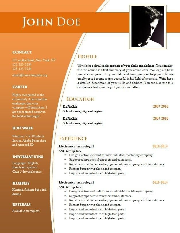 resume format free in ms word best examples basic template plant operations manager Resume Basic Resume Template Word Download