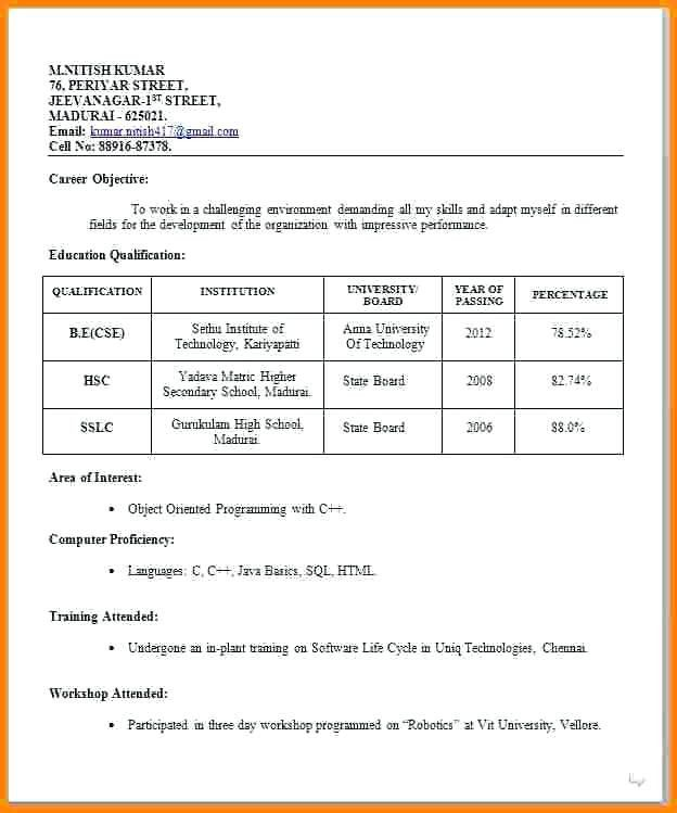resume format job interview for freshers best accounts receivable experience receptionist Resume Best Resume Format For Job Interview
