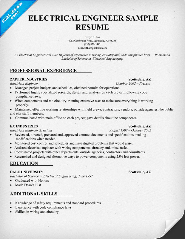 resume format samples of electrical engineer sample for ojt engineering students Resume Sample Resume For Ojt Electrical Engineering Students