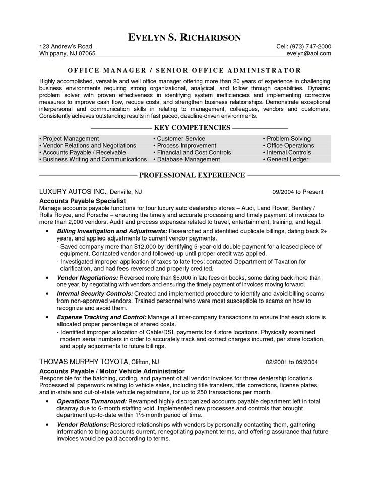 resume format years experience project manager objective sample templates professional Resume Professional Experienced Resume Sample