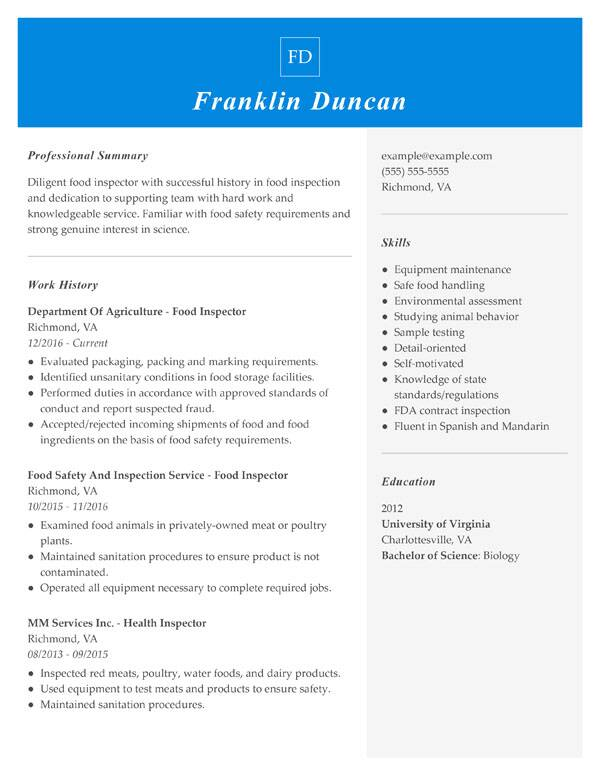 resume formats guide my perfect most used format combination food inspector princeton Resume Most Used Resume Format