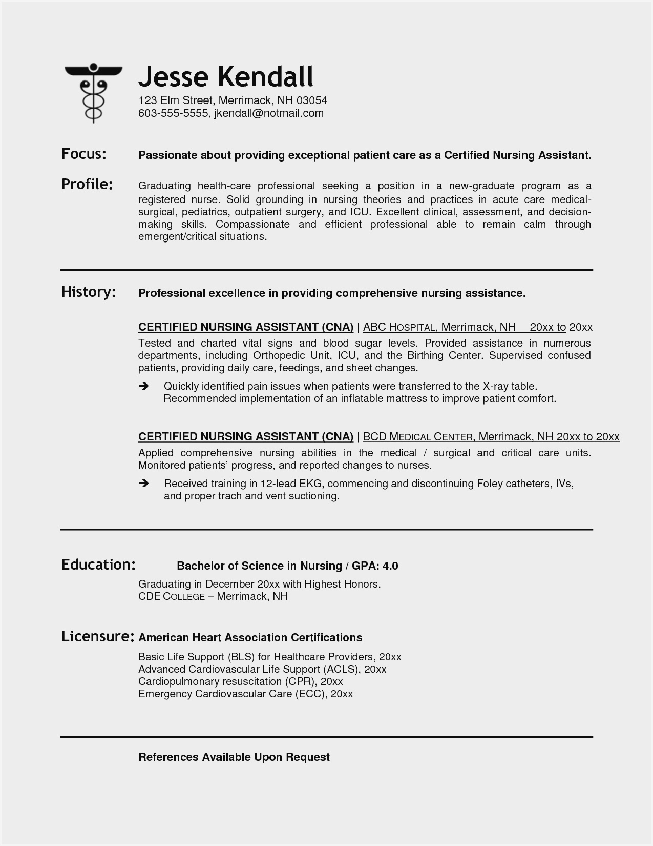 resume objective examples for nursing assistant sample entry level cna the consulting and Resume Entry Level Cna Resume Objective