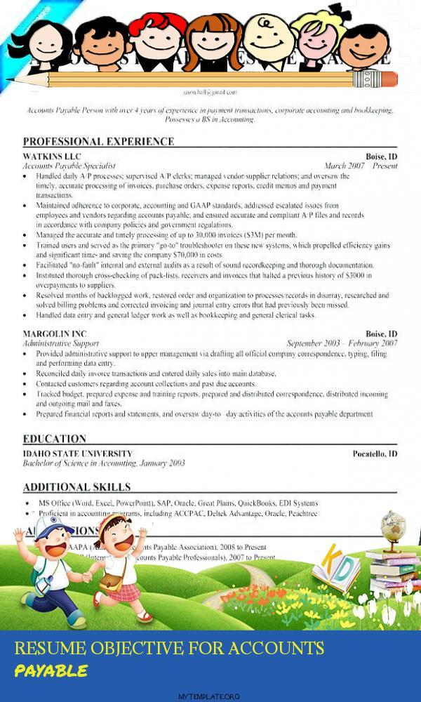 resume objective for accounts payable free templates of pin credentialing specialist Resume Accounts Payable Resume Objective